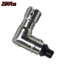 TDPRO Metal 90 Degree Ignition Coil Elbow Spark Plug Cap For Motorcycle Yamaha Suzuki Kawasaki Dirt Pit Bike ATV Go Kart Quad