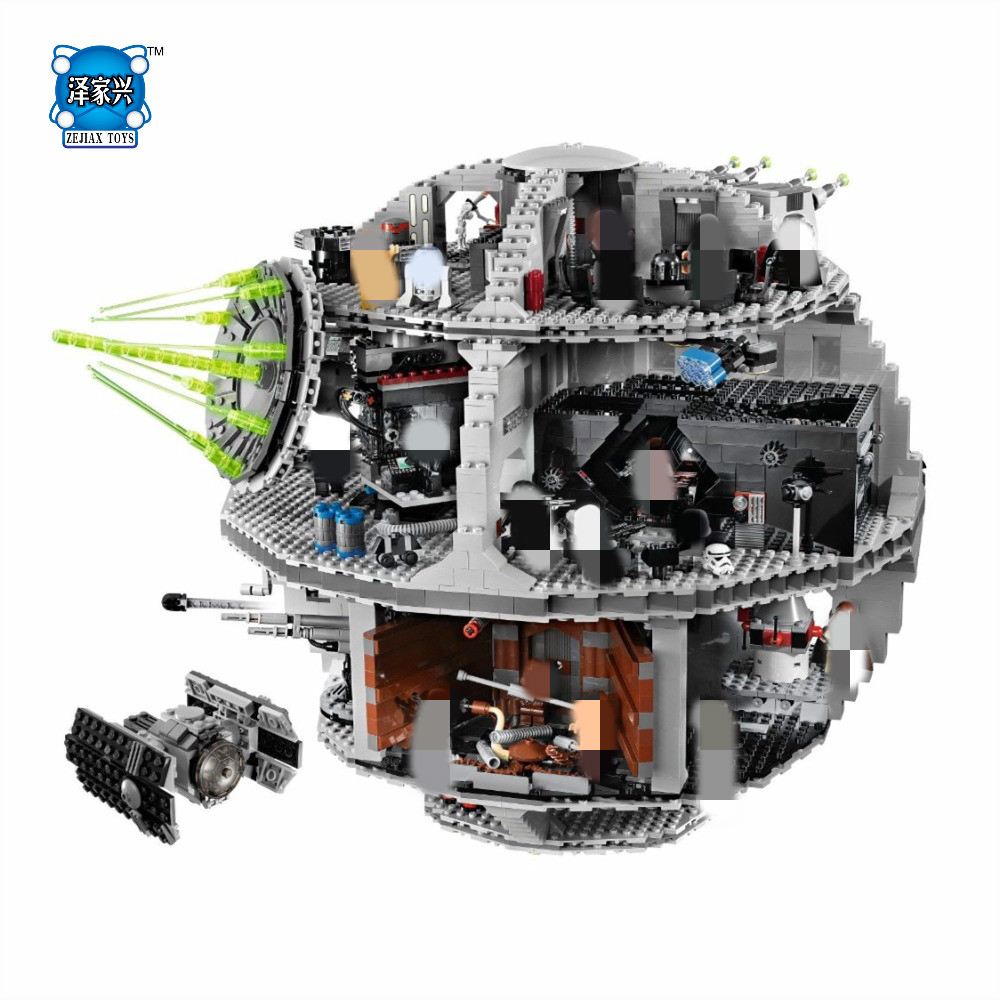 Star Space Wars Death Star Model Building Blocks Kits Toys for Children Compatible Lepins Brick Figures Toy for Kids 1pc imperial death trooper rogue one 75156 diy figures star wars superheroes assemble building blocks kids diy toys xmas