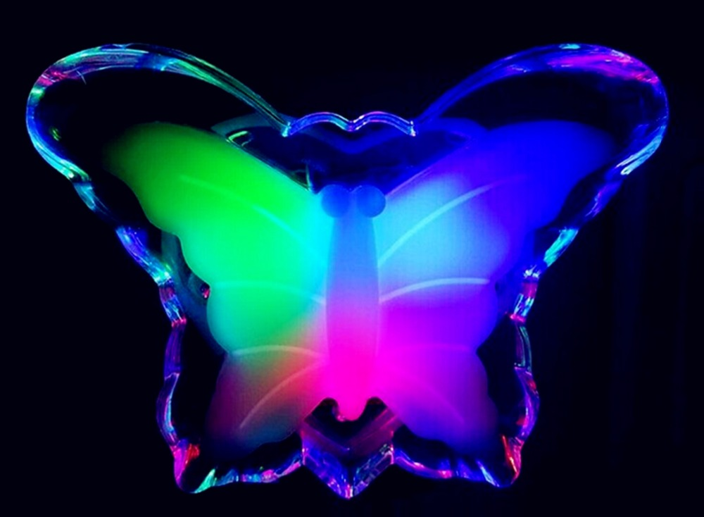 led Light Control Energy Saving US Plug Lovely Led Color Changing Butterfly Night Light Decoration for bedroom 220v ZYD0020