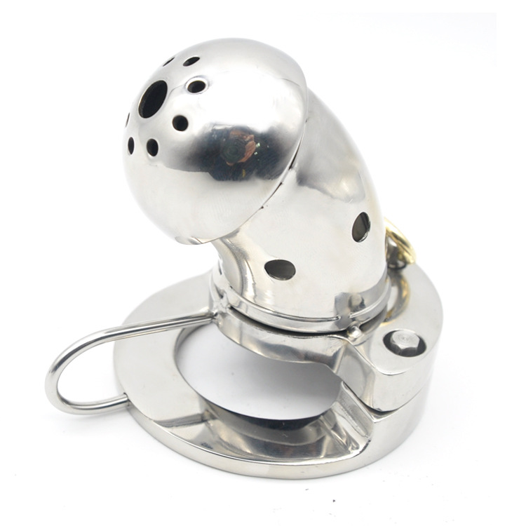 Latest design cock cage stainless steel chastity device cockring metal with ball stretcher scrotum male bondage sex ring for man cock rings scrotum ring stainless steel ball stretcher cockring adult sex toys for men scrotum bondage locking penis ring
