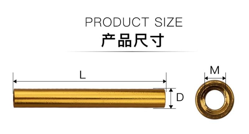 圆形铝柱金色-A