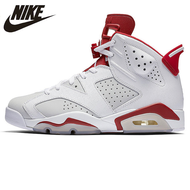 US $223.44 30% OFF|NIKE AIR JORDAN 6 AJ6 Joe 6 Bugs Bunny White and White Trendy Basketball Shoes Sneakers,Original Outdoor Sport Shoes 384664 113 in