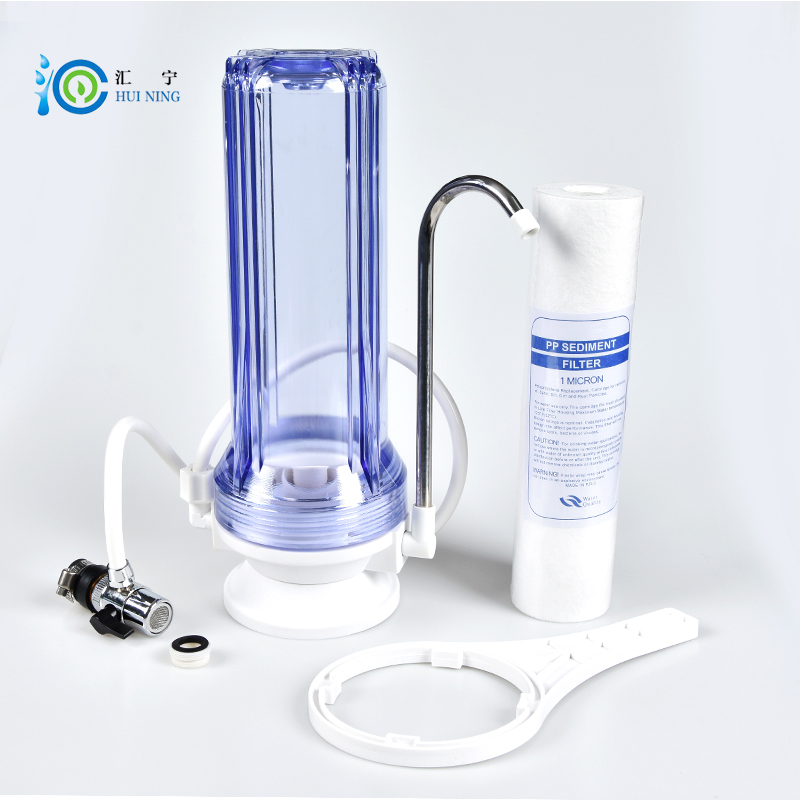 2017 Direct Selling Promotion Terminal Purification Clear Ce Water Filters One Stage Pre-filter Transparent Desktop Pp Filter alkaline water ionizer for wholesale and retail one unit with 3 stage pre filters