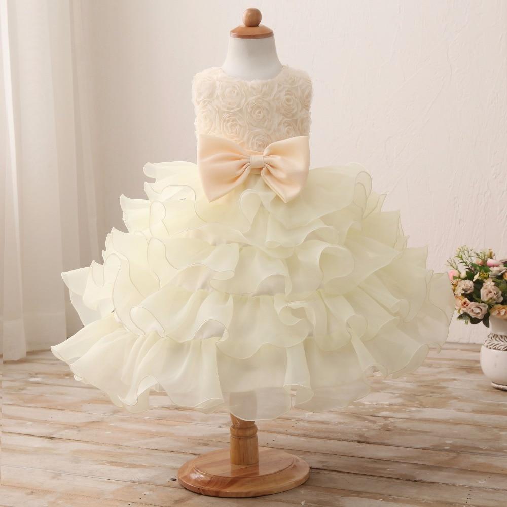 Baby Girl Dresses Flower Girl wedding dresses bridesmaid princess ...
