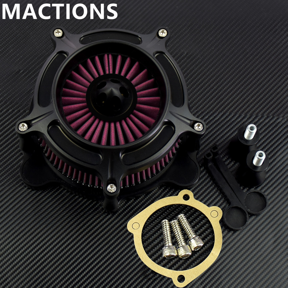 Air Cleaner Intake Filter System Air Filter For Harley Softail Touring Dyna Wide Glide Breakout Deluxe Heritage Springer 93-15