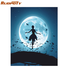 RUOPOTY Frame DIY Painting By Numbers Kit Dancer Abstract Modern Wall Art Picture Unique Gift Canvas Painting For Home Decors(China)