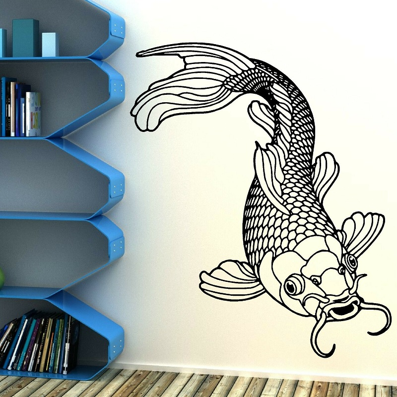 Home Decor Vinyl Wall Decal Fishing Hobby Sticker Mural Art Deco Interior Wallpaper 2KN14-in Wall Stickers from Home & Garden