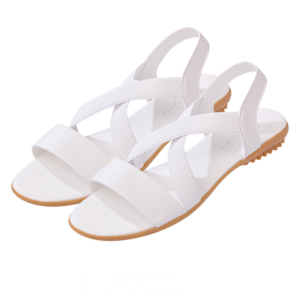 Sandals Summer 2018 Hot Sale Fashion Gladiator Cross Strap Shoes Women Flats Sandals Comfortable Ladies Open toe Shoes