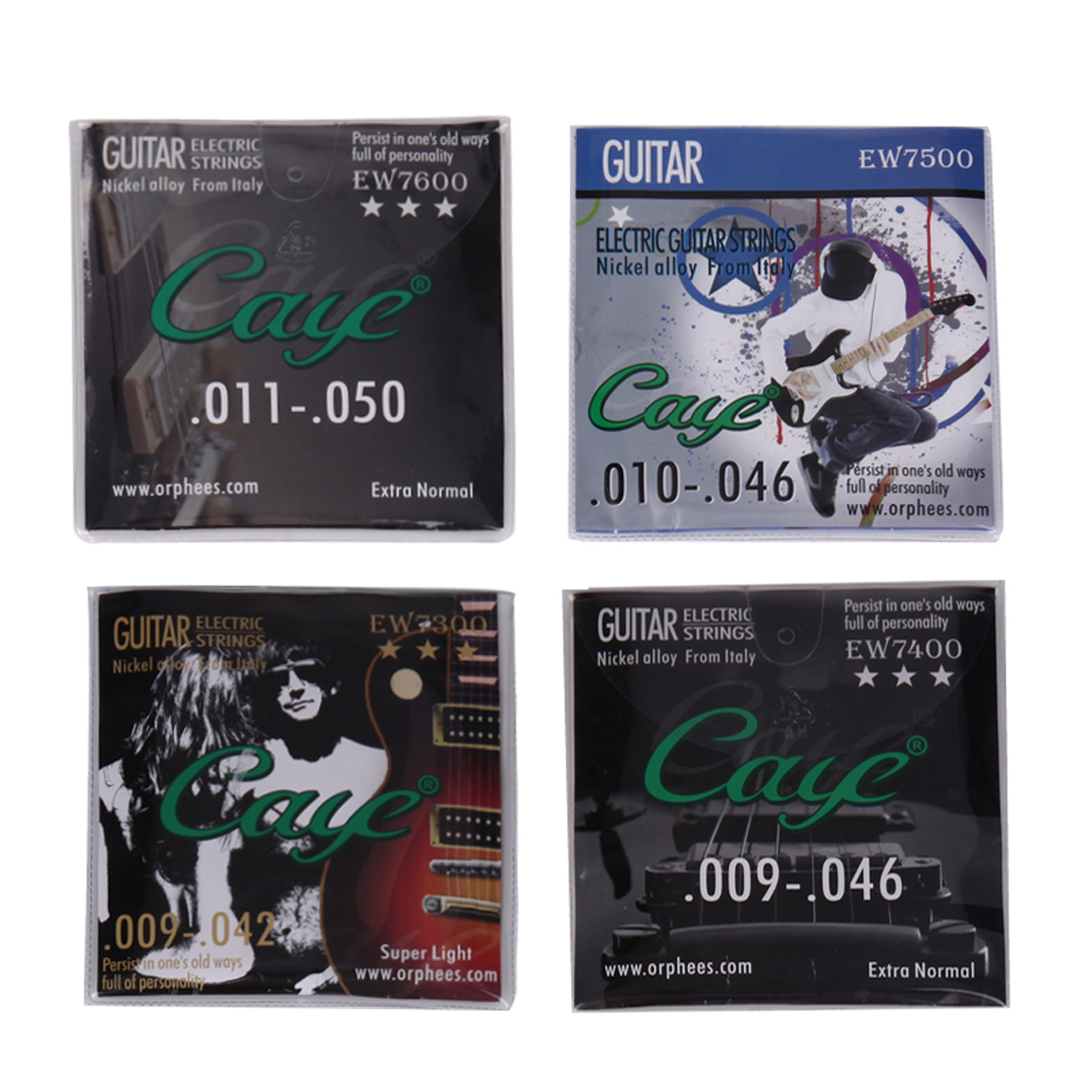 6pcs/set CAYE EW Series Nickel Plated Steel Guitar Strings Electric Guitar Strings Set EW7300 EW7400 EW7500 EW7600 savarez 510 cantiga series alliance cantiga ht classical guitar strings full set 510aj