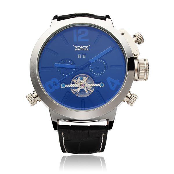 JARAGAR Brand Luxury Automatic Mechanical Fashion Flywheel Men Wrist Watch Calendar Men's Watches 2016 New Free Ship