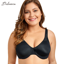 Delimira Women's Smooth Full Figure Underwire Seamless Minimizer Comfortable Bra