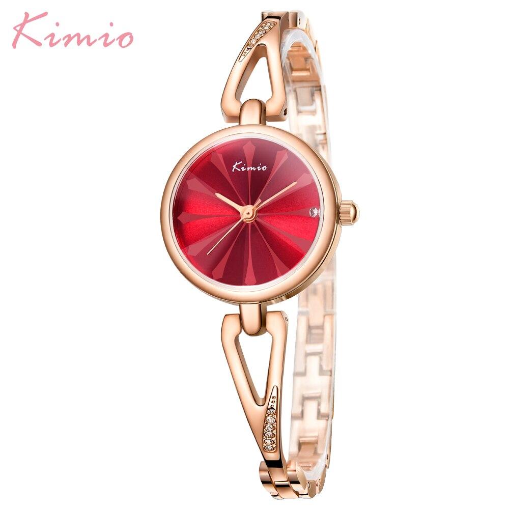 Kimio New Arrival Fashion Ladies Watch Women Wrist Watches Waterproof Rose Gold Clock Box Saat Relogio Feminino Bayan Kol Saati