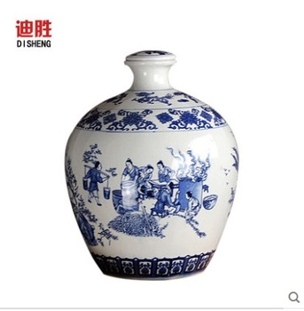 Garden ball sealed canister Store it ceramic bottle White wine with five catties medicine wine brewed wine jar