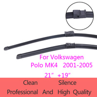 High Quality Wiper Blades for Volkswagen Polo MK4 2001 2005 21+19Car Accessories Soft Rubber Fit side pin type wiper