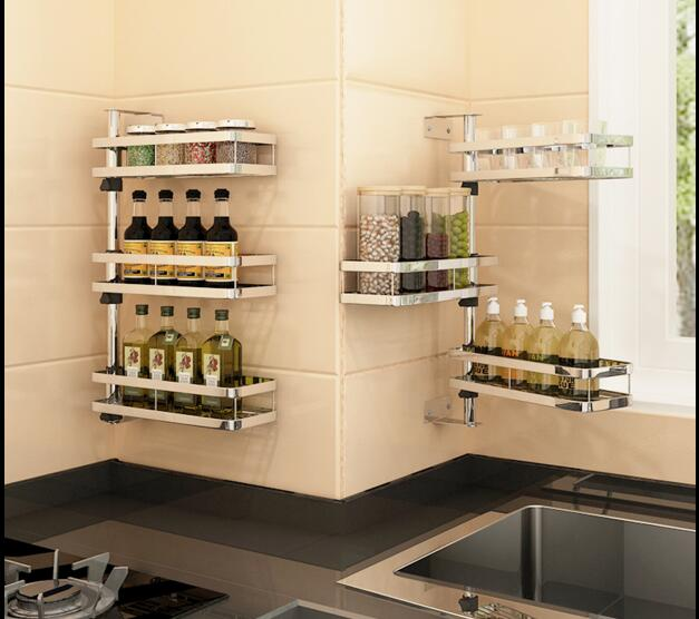 Acero inoxidable 304 cocina condimentos estante pared ...