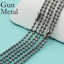 50 pcs - Gun Metal Chain Necklace, 2.4mm Gunmetal Ball Chain, Gun Metal Bead Chain, Gunmetal Necklace Chain цена 2017
