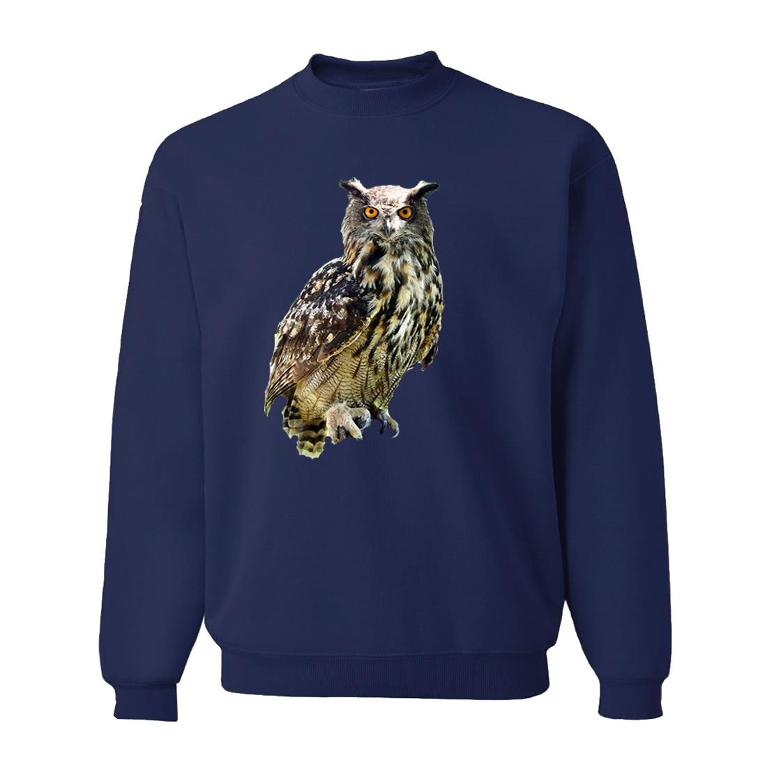 Animal Owl Funny Sweatshirt Hoodie Men 2019 New Autumn Animal Hooded Harajuku Casual Loose Fit Sweatshirts Brand Clothing CM01