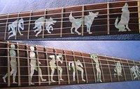 Fretboard Markers Inlay Sticker Decals for Guitar Werewolf