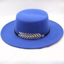 BINGYUANHAOXUAN Felt Hat Men Fedora Hats with Belt Women Vintage Trilby Caps Wool Fedora Warm Jazz Hat Chapeau Femme Panaman hat