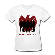 USA S.H.I.E.L.D Shadows Shield T Shirt Women Tops & Tees Unique Sweatshirts Summer Agent Group Tshirt Full Cotton High Quality(China)