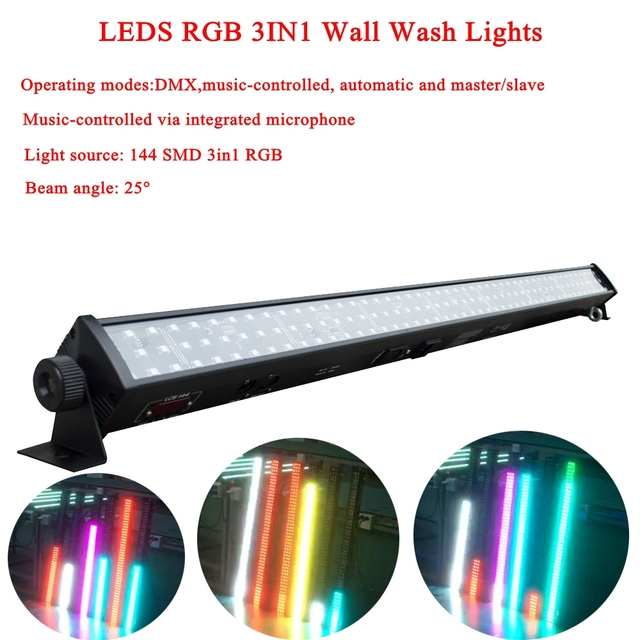 Color of Music LED RGB 3IN1 Wall Wash Lights Projection Lighting Party Club Disco Light For Christmas Indoor Stage Effect Lights