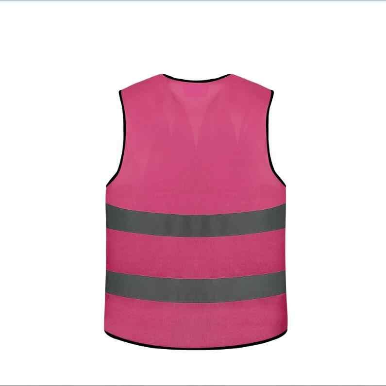 الوردي عاكسة سلامة سترة للنساء والاطفال
