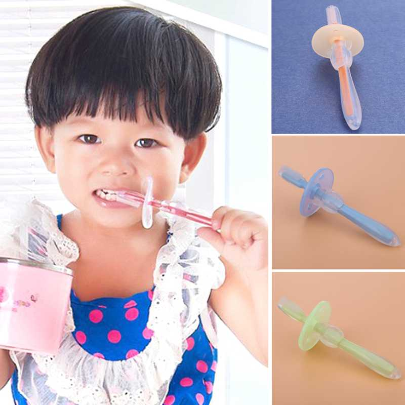 1PC Silicone Kids Teether Training Toothbrushes Newborn Baby Infants Dental Oral Care Brush Tool