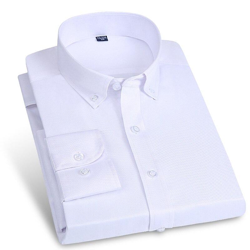 Herrenbekleidung & Zubehör GüNstiger Verkauf 2017 Mens Arbeiten Langarm Shirts Formale Geschäfts Social Shirts Einfarbig Button-down-kragen Marke Kleidung Mit Versteckte Tasten