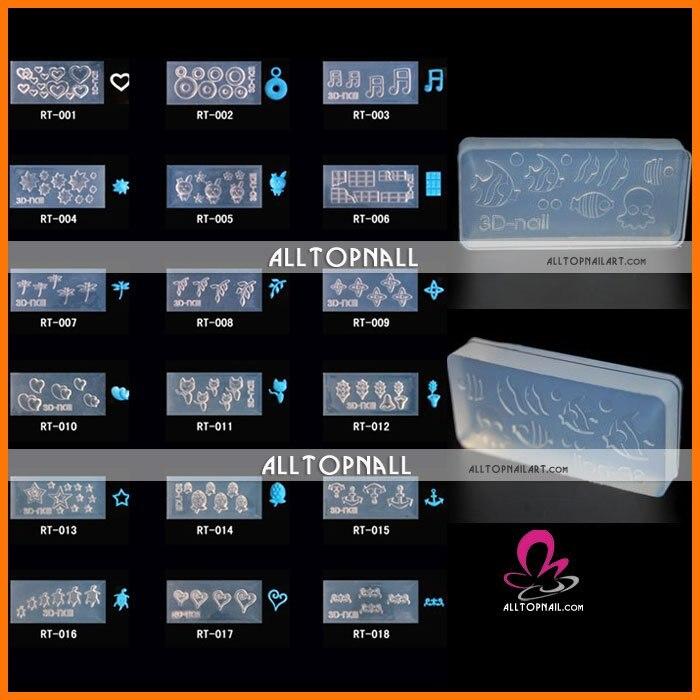 Free Shipping 3D nail art mold 70pcs/lot A_Grade acrylic molds for ...