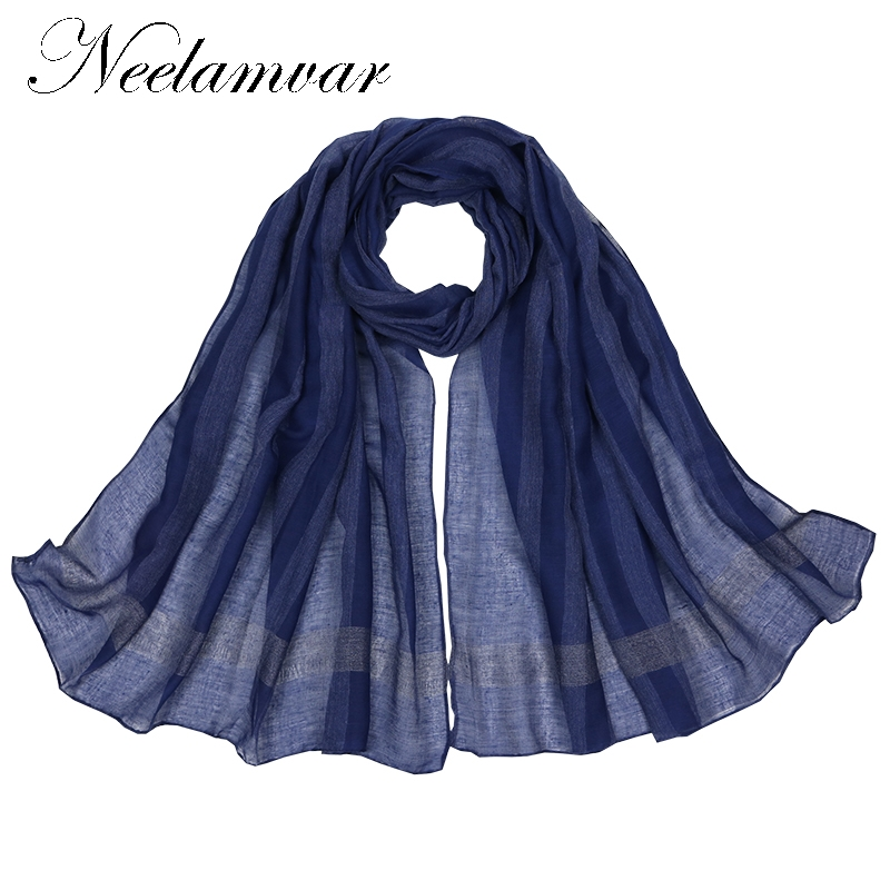 Neelamvar all-match fashion women scarf 2018 striped print cotton scarves ladies Autumn and Winter shawls echarpes from India ...