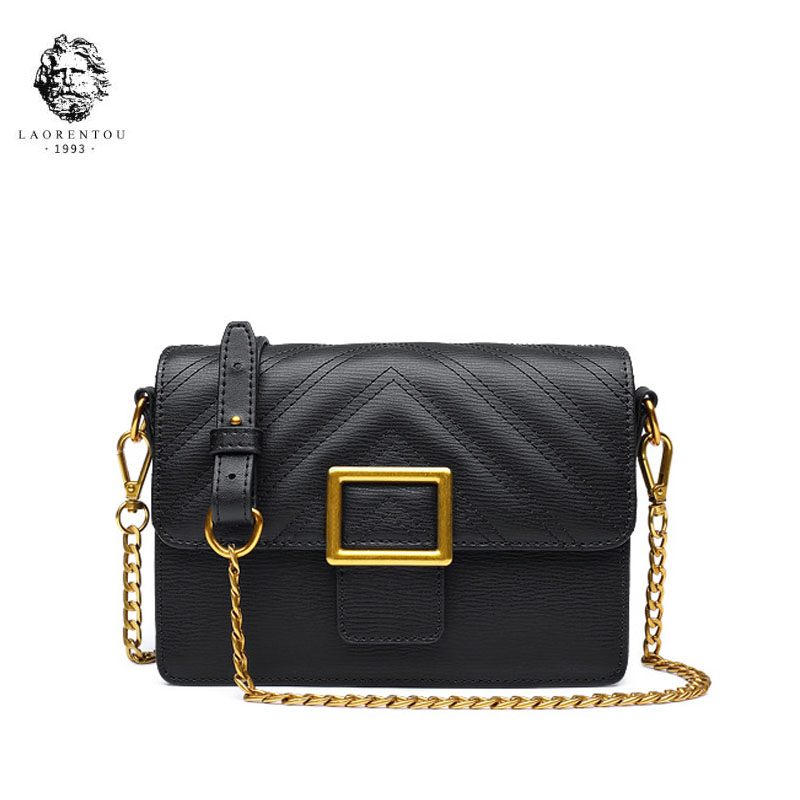 LAORENTOU Brand handbags Fashion Shoulder Messenger Bag 2018 new fashion small square package Chain bag стоимость