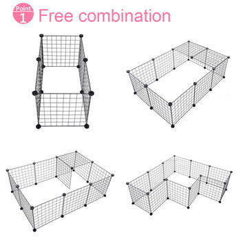 high quality 6pcs Free Combination Metal Pet Indoor Fence Yard Pet Fence Pet House Easy to Assemble for small medium cats dogs 1
