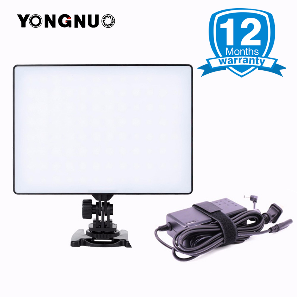 YONGNUO Official YN300 air YN-300 air Pro LED Camera Video Panel Light Video Photography Light+AC Power Adapter for Canon Nikon yongnuo yn300 air 3200k 5500k yn 300 air pro led camera video light with np f550 battery and charger for canon nikon