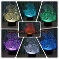 Новинка Популярная Смурфики 3D СВЕТОДИОДНЫЕ Лампы Декор Номеров Атмосферу красочные Night Light USB Таблица 7 Цвет Изменение Лампа Ребенок подарки
