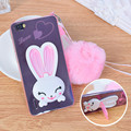 Soznoc Rabbit Ears TPU with Lanyard Case Cover for Huawei honor 4A 4 4C 5X 6 6P 7 7i mate 7 8 Y51 P8 P9 Lite maimang 4 enjoy 5s