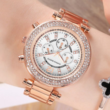 Women Dress Watch Rose Gold Stainless Steel Clock Brand Fashion Ladies Wristwatch Week Date Quartz Clock Female Luxury Watches fashion women watches rose gold silver stainless steel band analog quartz watch rhinestone bracelet wristwatch female clock