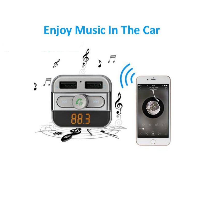 INGMAYA Car Mp3 Player Charger 2 USB 3.4A U Disk TF Card Bluetooth - Reservdelar och tillbehör för mobiltelefoner - Foto 5