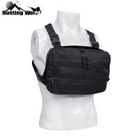Tactical Heavy Duty Molle Chest Rig Radio Chest Harness Front Pack Pouch Holster Pouches Vest Rig for Hunting Outdoor Equipment