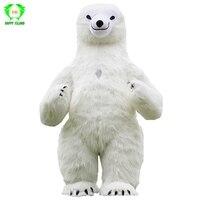 Новый стиль Polar Bear надувные костюмы рекламы 2 м высотой настроить для взрослых подходит для 1,6 м до 1,8 м Для мужчин для женщин костюм