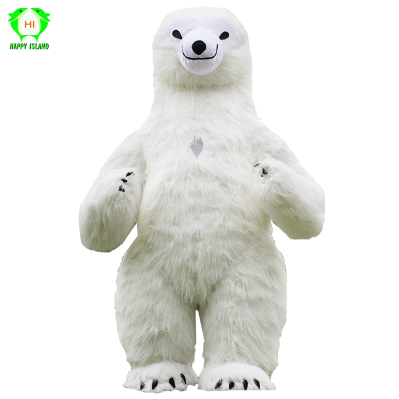 New Style Polar Bear Inflatable Costumes Advertising 2M Tall Customize for Adult Suitable for 1.6m To 1.8m Men Women Costume