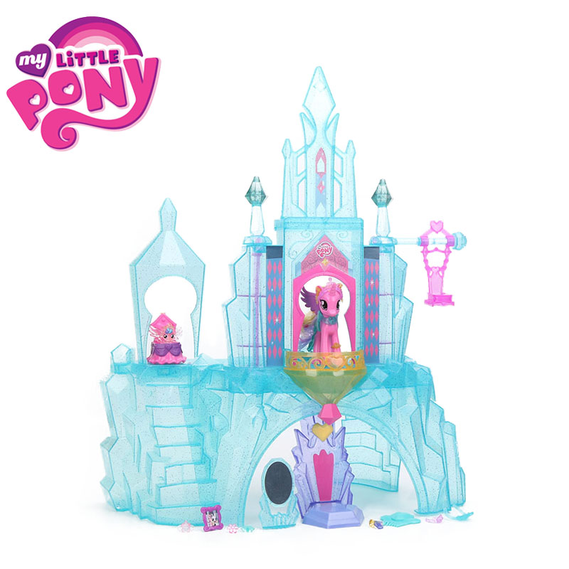 My Little Pony Toys For Girl Crystal Castle House Friendship is Magic Princess Cadance Baby Flurry Heart colletion Model Dolls my little pony toys the movie princess cadance celestia pvc action figure friendship is magic model doll glitter celrbration