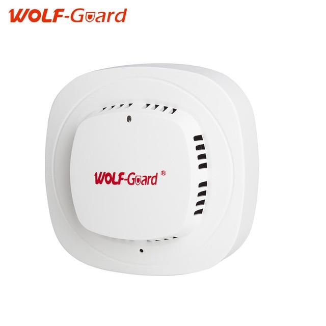WOLF-Guard White 433mhz Wireless alarm sensors Wireless fire smoke detector with 85dB Alarming Sound sensor alarm siren