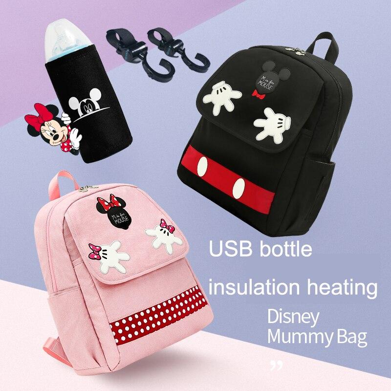 Disney nappy bébé sac pour maman sac à langer voyage sac à dos micky souris animal imprimé fourre-tout grande capacité sac humide soin pour bébé