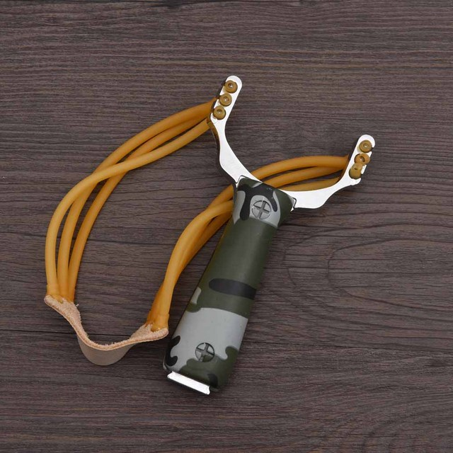 Powerful Aluminium Alloy Slingshot Sling Shot Catapult Camouflage Bow Catapult Outdoor Hunting Camping Travel Kits