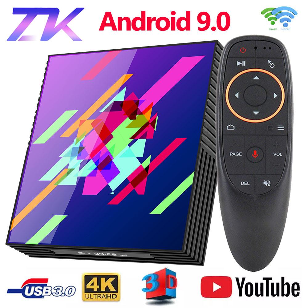 Box TV Google Play Tv Box Android 9.0 Rockchip RK3318 4GB 64GB Smart Tv Box Bluethooth 2.4/5.0G WiFi Android Tv Box PK H96MAX