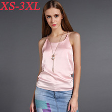 Women Tank Tops 2017 Summer Sexy Silk Womens Vest Tops Ladies Sleeveless Casual Camis Plus Size 2XL 3XL Camisas Femininas