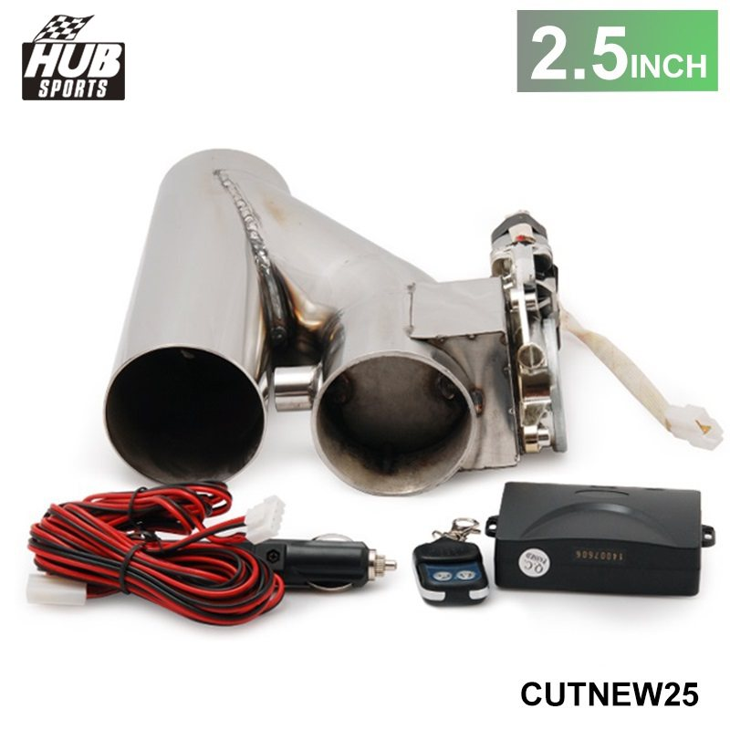"Hubsports 2.5"" EXHAUST CATBACK TURBO ELECTRIC E CUTOUT Y"