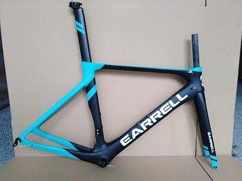 2019 New EARRELL Full carbon fiber road frame T1000 bicycle frame DI2 OEM carbon road frame 50.5/53/56cm matte glossy
