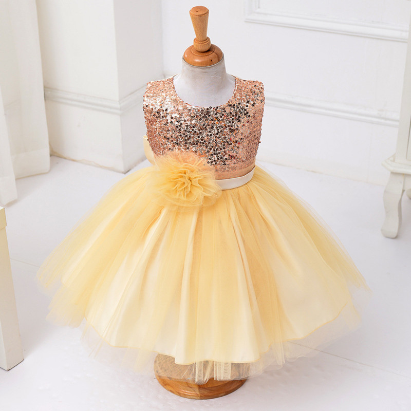 2016 Girl Dresse Sequin sleeveless Dresses tutu Princess Dress Baby Girls Party Dress Kids Clothes 3-12 Yrs vestidos dresse
