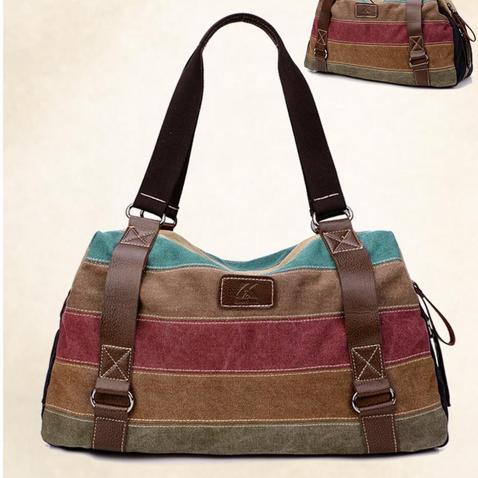 2017 Hot Women Shopping Bags Casual Patchwork k2 Canvas Handbag Stripe Shoulder Bags Totes Handbag women messenger bags w659